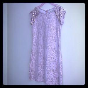 Size 8 Girls Gold Dress
